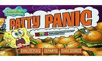 juego de bob esponja patty panic en esta aventura y plataforma, en el que tendremos que ayudarle a eliminar las criaturas que recorren la planta de fabricación de hamburguesas de los personajes como patricio, señor cangrejo o calamardo en el que es un pulpo.