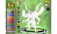 coloring ben es un juego de pintar y colorear a Ben 10 fuerza alienigena con su prima y a kevin, tambien para niños y niñas.