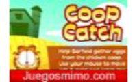 garfield coop catch es un juego de ingenio y habilidad de cartoon network que tendras que coger huevos con la cesta de el gato garfield, para pasar de level, con este animal felino. Aquí podran jugar las chicas, niñas o niños infantiles. Tener cuidado y solo coge los huevos, no cogas sandias o otra cosa que no sean huevos.
