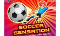 soccer sensation futbol, es un gran juego de deporte de futbol para que podreis jugar con el balon, donde tendreis que mirar bien la altura de los oponentes, y saber que el balon tiene que entrar en la porteria del contrario sin hacer falta.